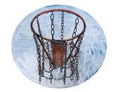 Old basketball hoop — Stock Photo