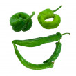 "Smile ""grin"" composed of green peppers — Stock Photo"