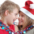 Royalty-Free Stock Photo: Children with Christmas decorations