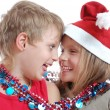 Stock Photo: Children with Christmas decorations