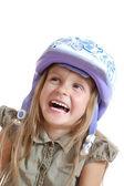 Child with helmet — Stok fotoğraf