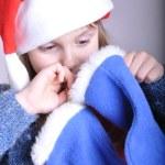 Cute little smiling Santa girl — Stock Photo #4156795