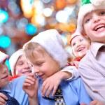 Christmas happy kids — Stock Photo