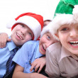 Stock Photo: Christmas happy kids