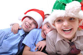 Christmas happy kids — Stockfoto