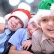 Christmas happy kids — Stock Photo