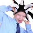 Schoolboy clown — Stock Photo