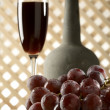 Still life with old red wine - Stock Photo