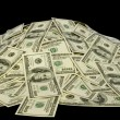 Big pile of money. dollars over white background — Stock Photo #5210243