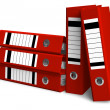 Red folders - Stock Photo
