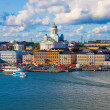 Summer panorama of Helsinki, Finland — Stock Photo #3949043