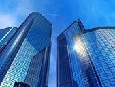 Moderna kontorsbyggnader — Stockfoto