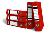 Red folders — Stock Photo
