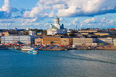 Summer panorama of Helsinki, Finland — Stockfoto