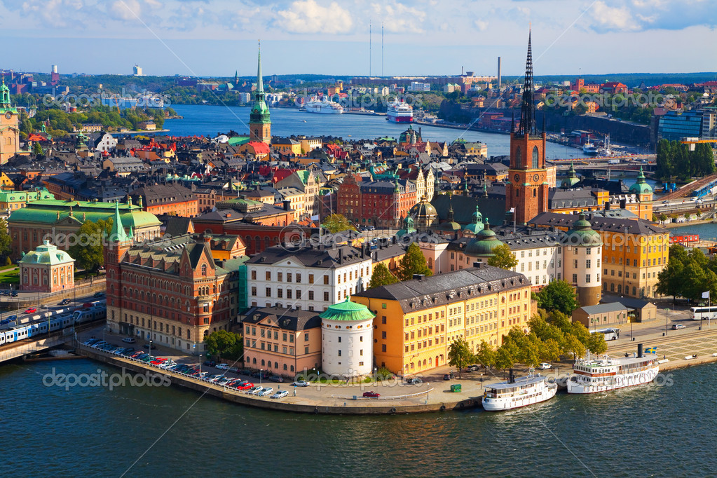 Panorama of Stockholm, Sweden — Lizenzfreies Foto #3949060