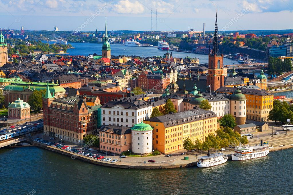 Panorama of Stockholm, Sweden  Foto de Stock   #3949060