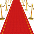 Royalty-Free Stock Photo: The red carpet