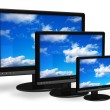Stock Photo: Different size TFT displays