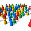 Royalty-Free Stock Photo: The Crowd and the Leader
