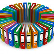 Circle from color folders — Stock Photo #4032960