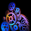 Abstract colorful gears — Stock Photo