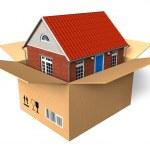 kutusunda yeni ev — Stok fotoğraf #4033084