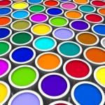 Color paint cans — Stock Photo