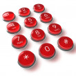 Red phone keyboard — Stock Photo