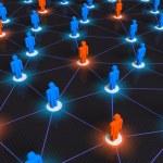 concetto di rete sociale — Foto Stock