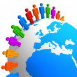 Global communication concept - Foto Stock