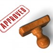 """Approved"""" stamp — Stock Photo"""