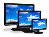Different size TFT displays — Stock Photo