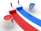 Red and blue paint — Stock Photo