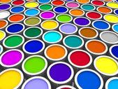 Color paint cans — Stock fotografie