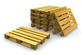 Shipping pallets — Stock Photo
