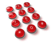 Red phone keyboard — Stockfoto