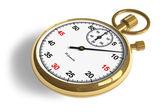Golden stopwatch — Stock Photo