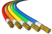 Color power cables — Stock Photo