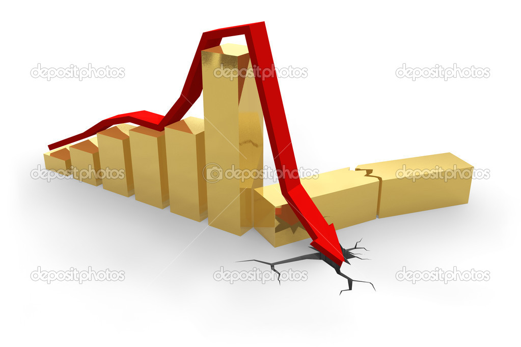 Crisis chart  Stock Photo #4032804