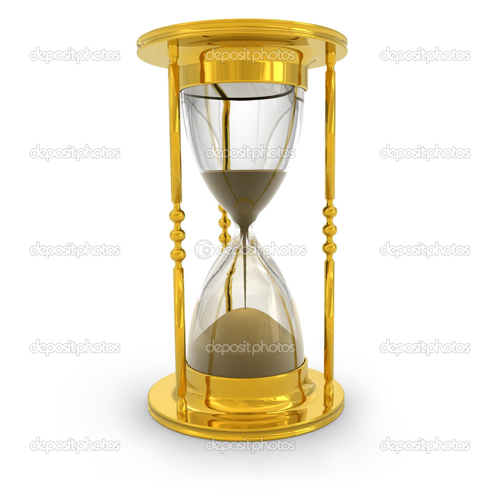 Golden hourglass — Stock Photo #4033054