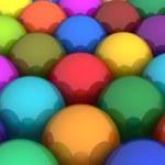 Colorful glossy balls — Stock Photo