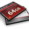 Stock Photo: CompactFlash memory cards
