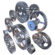 Group of steel gears — Stock Photo