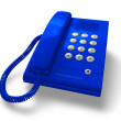 Blue office phone — 图库照片