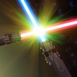 Battle with light sabers — Stock Photo #4081271