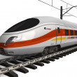 Modern high speed train - Stok fotoraf