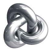 Abstract metal shape — Stock Photo