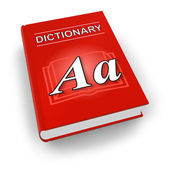 Red dictionary — Stock Photo