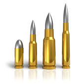 Set of different bullets — Stock Photo