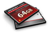 CompactFlash memory cards — Stock Photo